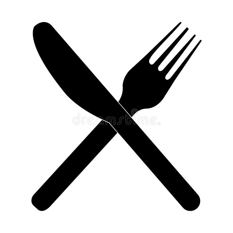 Δίκρανο και μαχαίρι απεικόνιση αποθεμάτων