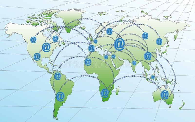 Δίκτυα Ίντερνετ στον κόσμο διανυσματική απεικόνιση