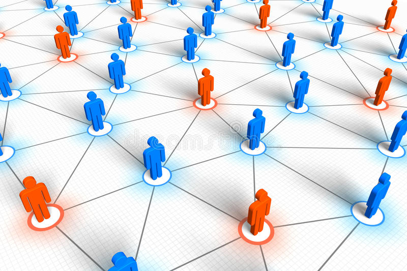 δίκτυο έννοιας κοινωνικό απεικόνιση αποθεμάτων