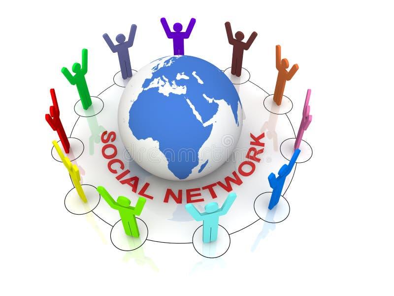 δίκτυο έννοιας κοινωνικό διανυσματική απεικόνιση