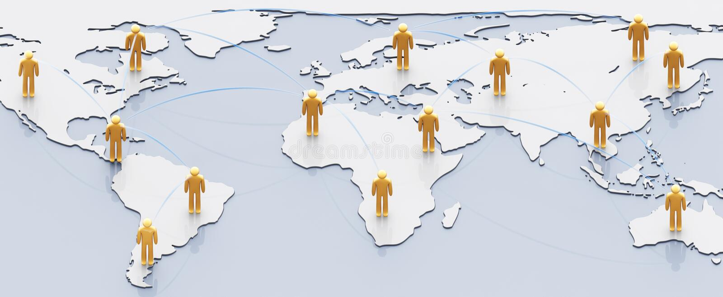 δίκτυο έννοιας κοινωνικό ελεύθερη απεικόνιση δικαιώματος