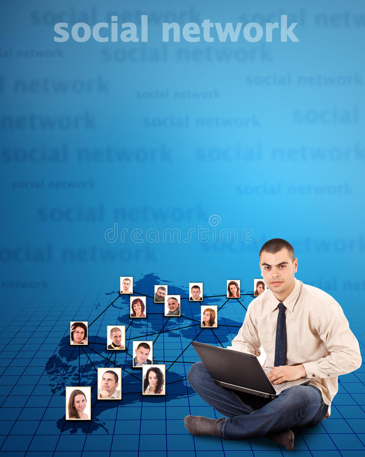 δίκτυο έννοιας κοινωνικό στοκ φωτογραφίες με δικαίωμα ελεύθερης χρήσης