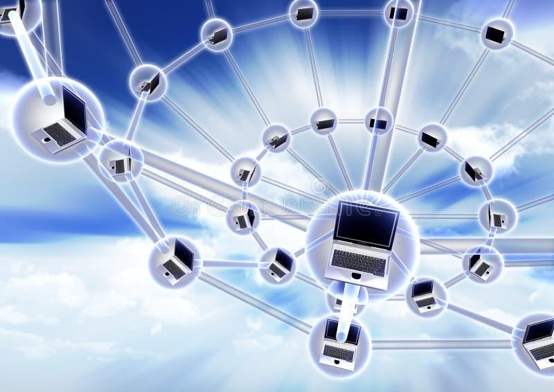 δίκτυο έννοιας υπολογιστών απεικόνιση αποθεμάτων