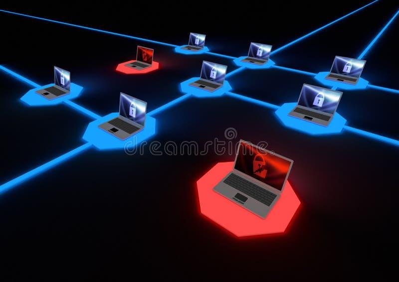 δίκτυο έννοιας διανυσματική απεικόνιση