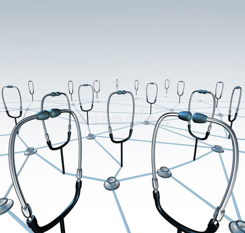 Δίκτυο γιατρών ελεύθερη απεικόνιση δικαιώματος
