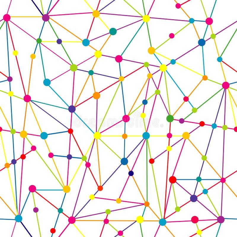 Δίκτυο γραμμών και σημείων απεικόνιση αποθεμάτων
