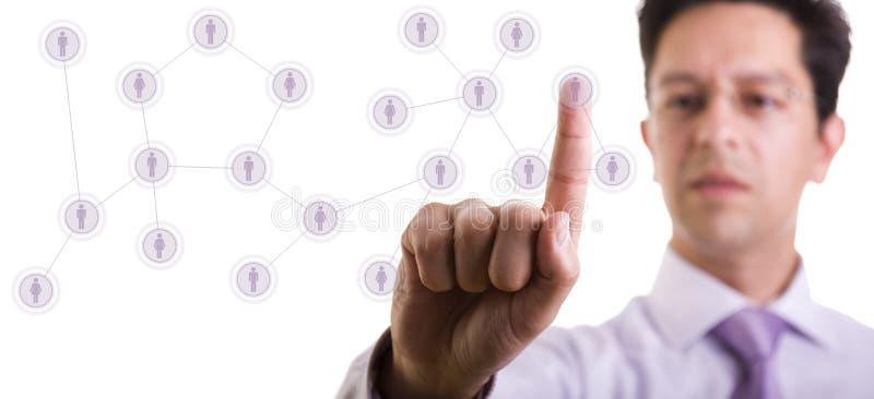 δίκτυο διαχείρισης επα&phi στοκ εικόνα