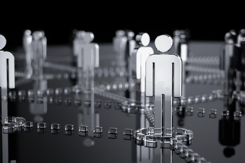 Δίκτυο, δικτύωση, σύνδεση, κοινωνικά δίκτυα, Διαδίκτυο, comm διανυσματική απεικόνιση