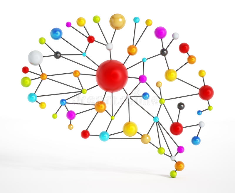 Δίκτυο εγκεφάλου ελεύθερη απεικόνιση δικαιώματος