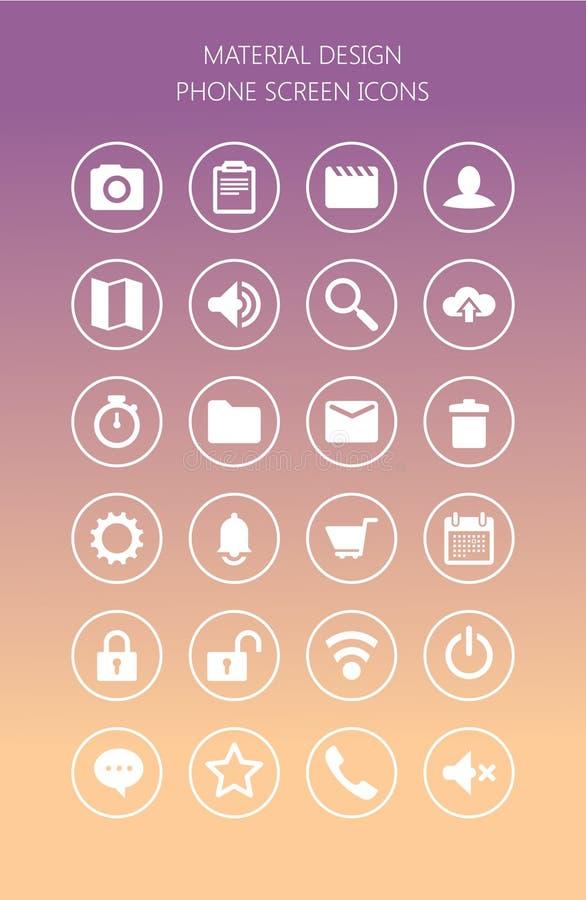 Δίκτυο και κινητά εικονίδια οθόνης απεικόνιση αποθεμάτων