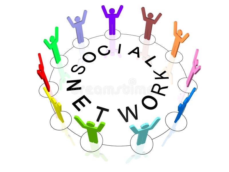 δίκτυο κοινωνικό απεικόνιση αποθεμάτων