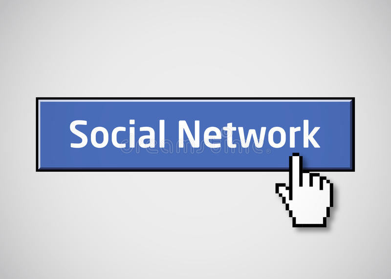 δίκτυο κουμπιών κοινωνι&ka ελεύθερη απεικόνιση δικαιώματος