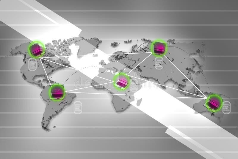 Δίκτυο με το lap-top διανυσματική απεικόνιση