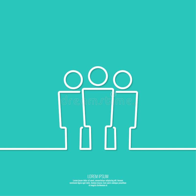 Δίκτυο ομάδας χρηστών ελεύθερη απεικόνιση δικαιώματος