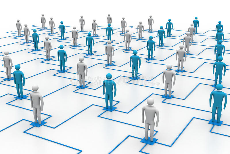 Δίκτυο, συνδέοντας άνθρωποι ελεύθερη απεικόνιση δικαιώματος