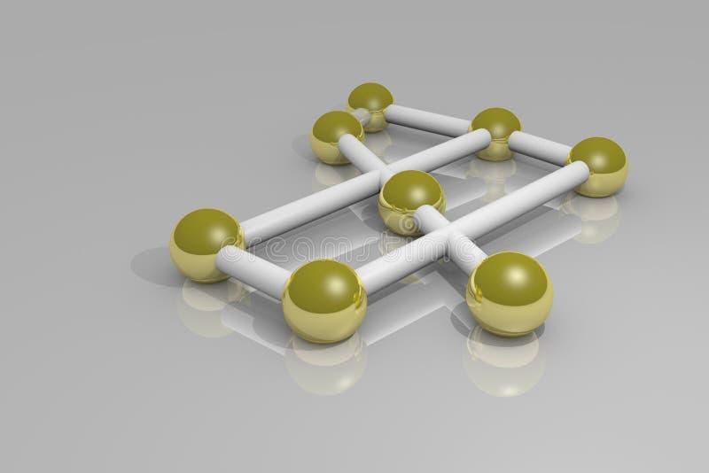 Δίκτυο των χρυσών σφαιρών ελεύθερη απεικόνιση δικαιώματος