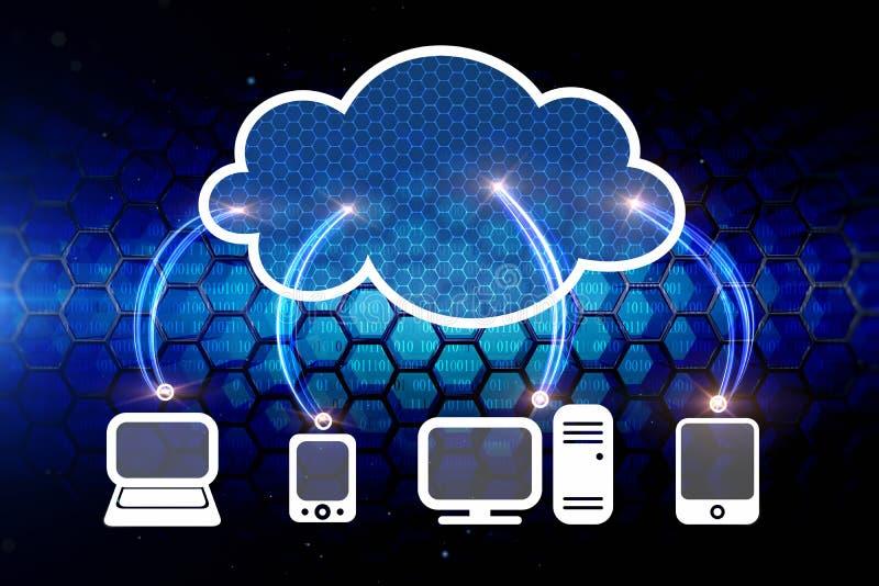 Δίκτυο υπολογισμού σύννεφων ελεύθερη απεικόνιση δικαιώματος
