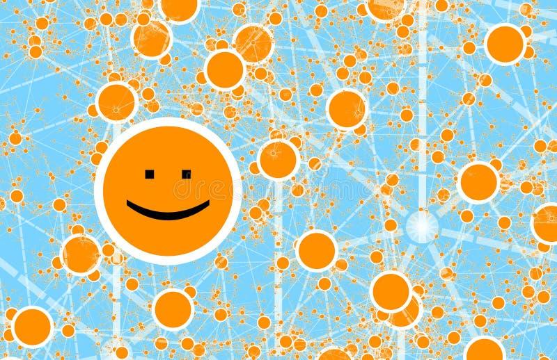 δίκτυο φίλων κύκλων on-line κοινωνικό διανυσματική απεικόνιση