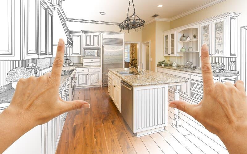Δίνει το πλαισιώνοντας σχέδιο σχεδίου κουζινών συνήθειας Gradated και τη φωτογραφία Γ στοκ εικόνα με δικαίωμα ελεύθερης χρήσης