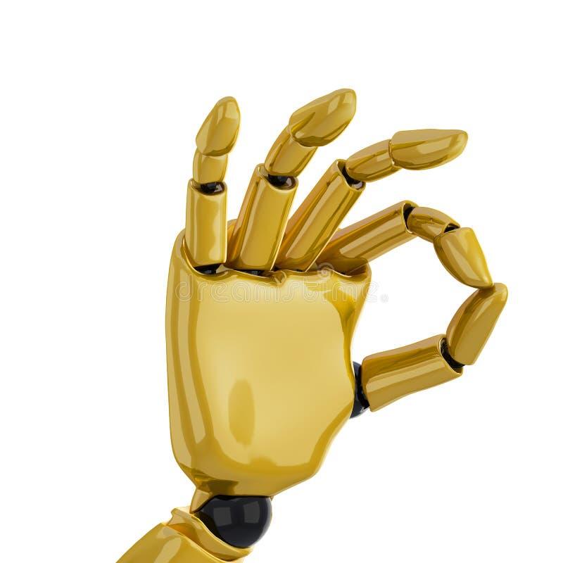 δίνοντας το χρυσό χέρι ρομποτικό ελεύθερη απεικόνιση δικαιώματος