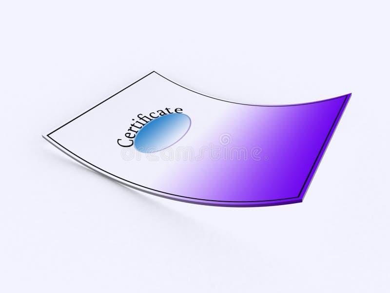 δίπλωμα στοκ φωτογραφία με δικαίωμα ελεύθερης χρήσης