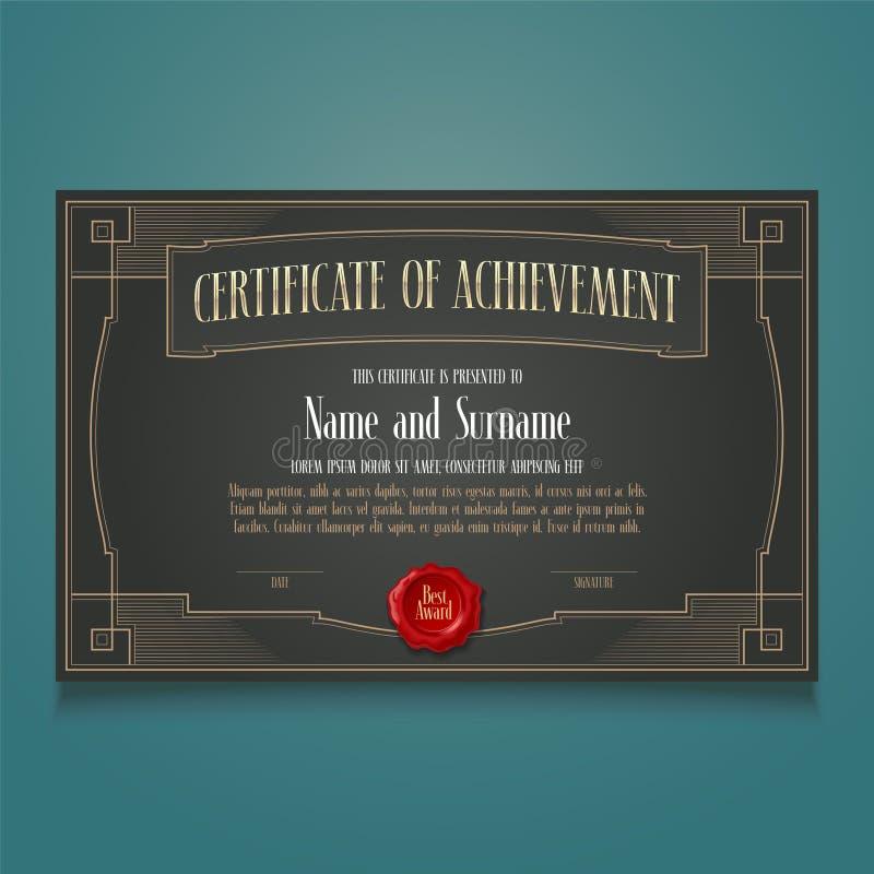 Δίπλωμα του επιτεύγματος, διανυσματικό κενό εκτίμησης απεικόνιση αποθεμάτων