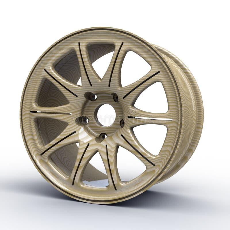 Δίσκοι χάλυβα για μια τρισδιάστατη απεικόνιση αυτοκινήτων διανυσματική απεικόνιση