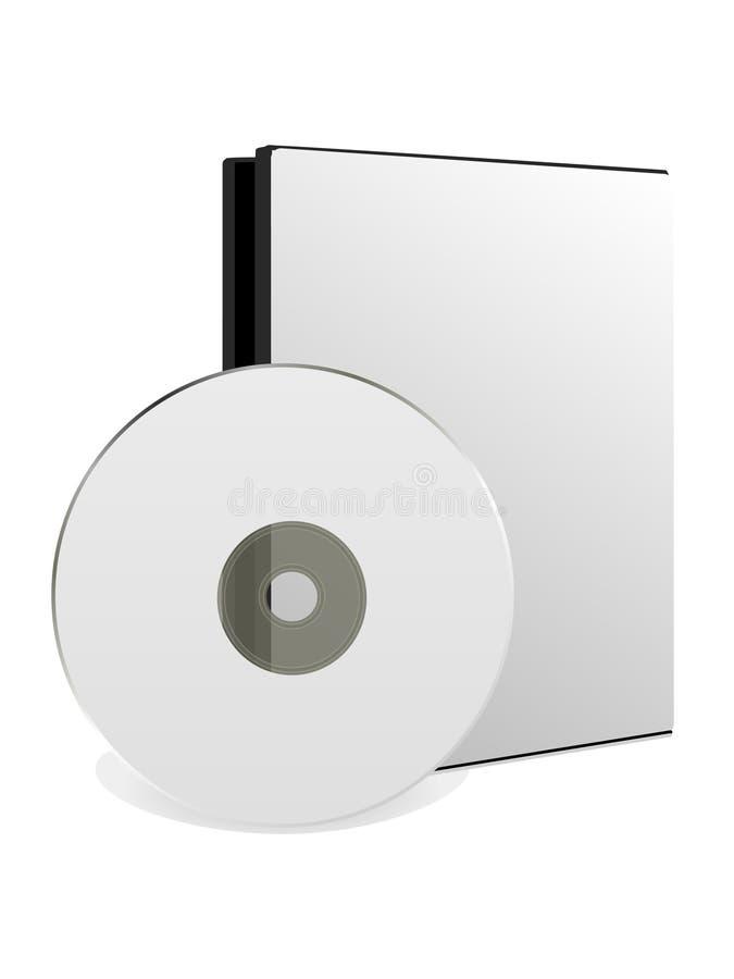 δίσκος Cd κιβωτίων ανασκόπη& ελεύθερη απεικόνιση δικαιώματος