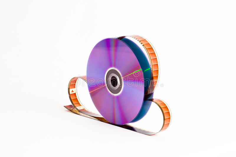 δίσκος dvd filmstrip στοκ εικόνες