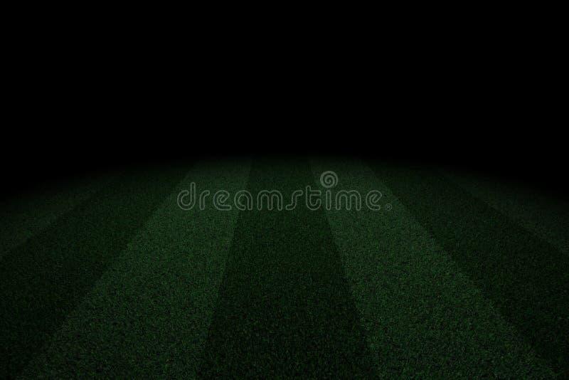 Δίχρωμο γήπεδο ποδοσφαίρου στο σκοτάδι απεικόνιση αποθεμάτων