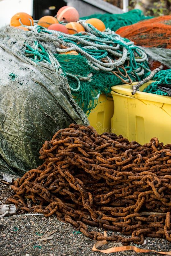 Δίχτια του ψαρέματος και επιπλέοντα σώματα στοκ φωτογραφίες με δικαίωμα ελεύθερης χρήσης