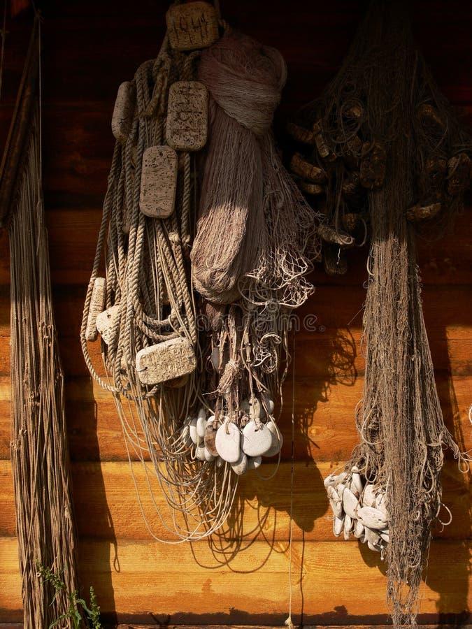 δίχτια του ψαρέματος παλαιά στοκ εικόνες