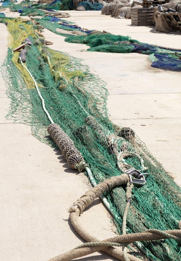 Δίχτυα του ψαρέματος εκτεταμένα στοκ εικόνες με δικαίωμα ελεύθερης χρήσης
