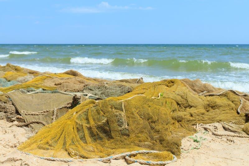 Δίχτυα του ψαρέματος στη θάλασσα στοκ εικόνα με δικαίωμα ελεύθερης χρήσης