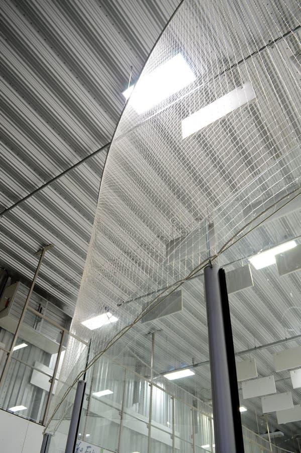 Δίχτυ ασφαλείας πίσω από Goaltenders στοκ εικόνα με δικαίωμα ελεύθερης χρήσης
