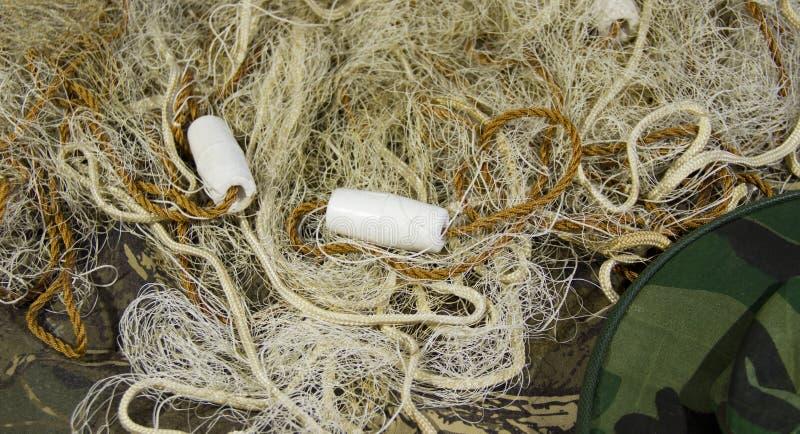 Δίχτυ του ψαρέματος με τα επιπλέοντα σώματα στοκ φωτογραφία