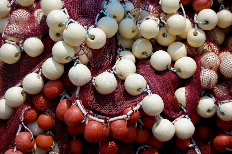 Δίχτυ του ψαρέματος με τους σημαντήρες στοκ φωτογραφίες με δικαίωμα ελεύθερης χρήσης