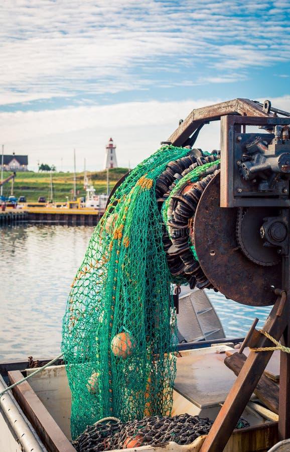 Δίχτυ του ψαρέματος σε ένα λιμάνι στοκ εικόνες με δικαίωμα ελεύθερης χρήσης