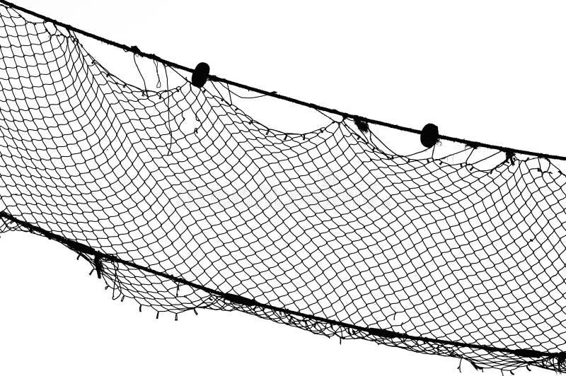 δίχτυ του ψαρέματος bw στοκ εικόνες