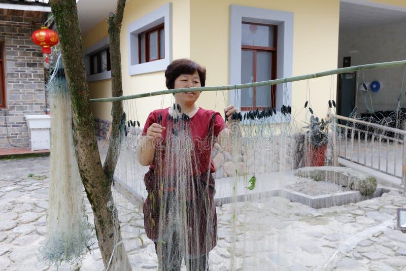 Δίχτυ ψαρέματος λήξης γυναικών, πλίθα rgb στοκ φωτογραφία με δικαίωμα ελεύθερης χρήσης