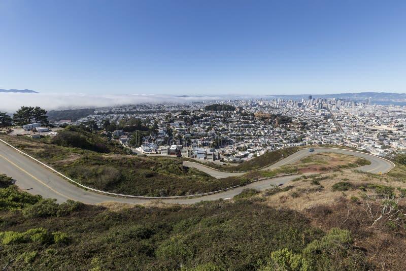 Δίδυμες αιχμές Blvd, Σαν Φρανσίσκο στοκ φωτογραφία