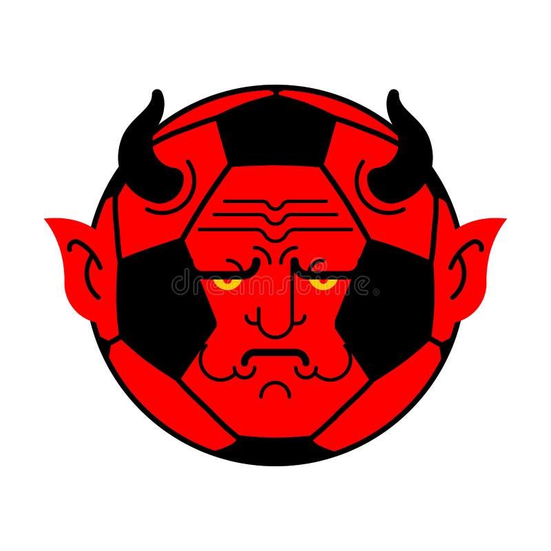 Δαίμονας σφαιρών ποδοσφαίρου κόκκινος διάβολος σφαιρών επίσης corel σύρετε το διάνυσμα απεικόνισης απεικόνιση αποθεμάτων
