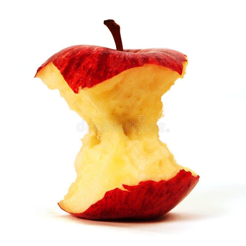 δαγκωμένο μήλο κόκκινο στοκ εικόνα
