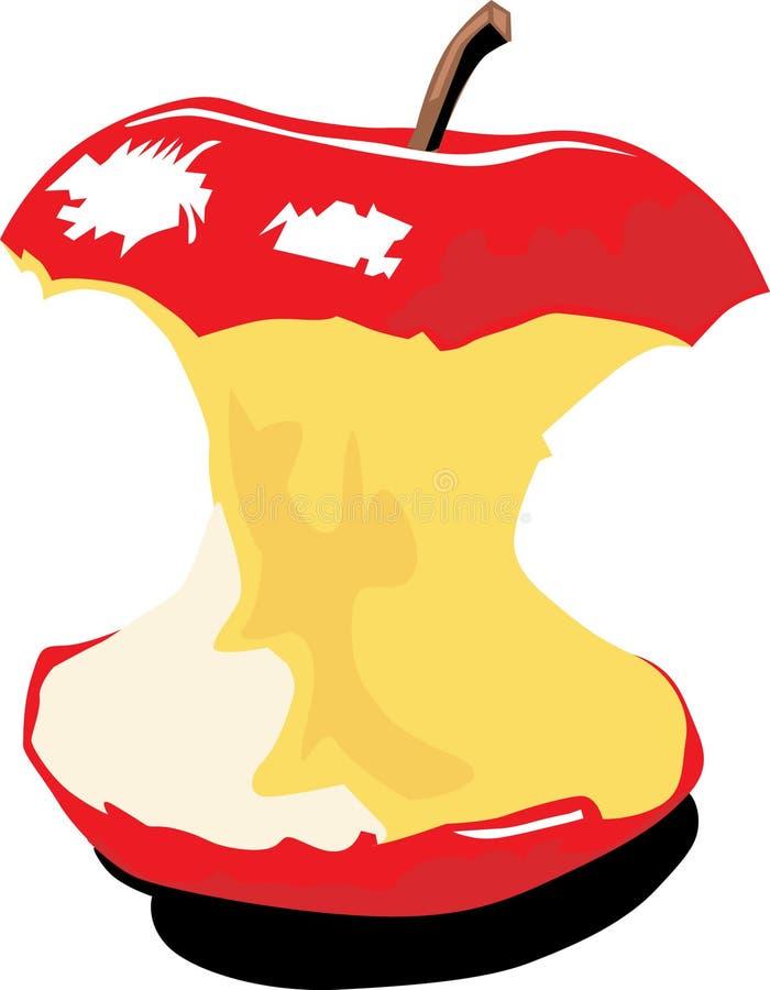 δαγκωμένο μήλο χρώμα απεικόνιση αποθεμάτων