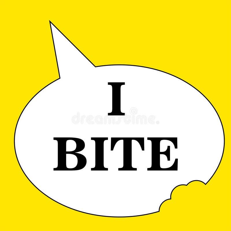 Δαγκώνω - λογότυπο - ελεύθερη απεικόνιση δικαιώματος