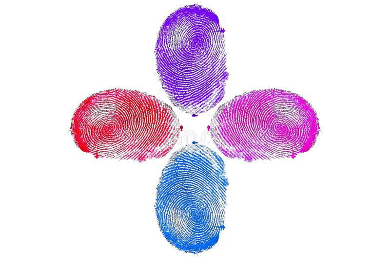 Δακτυλικά αποτυπώματα στοκ εικόνες