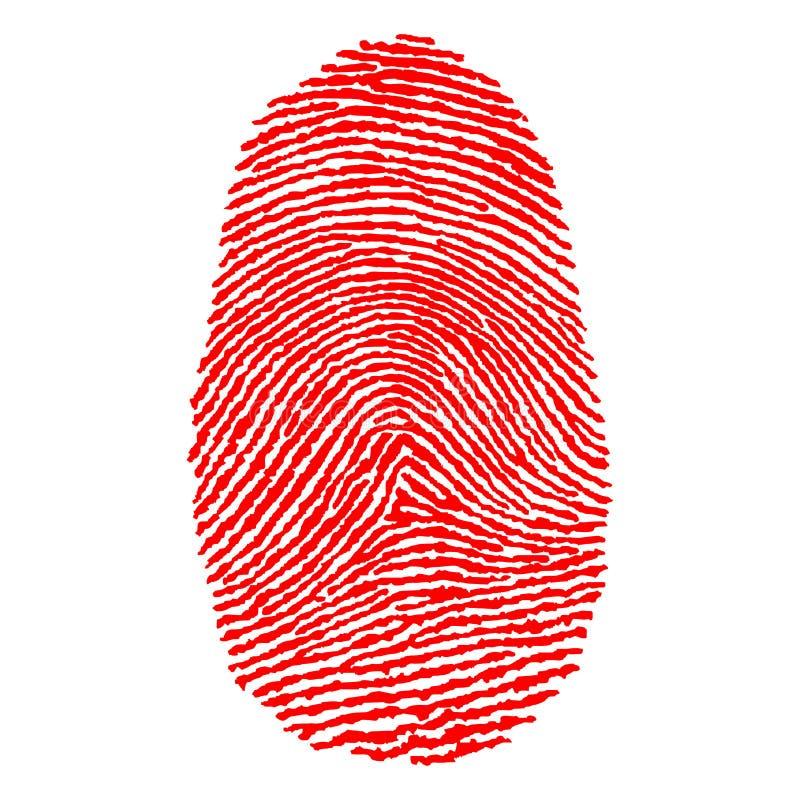 δακτυλικά αποτυπώματα διανυσματική απεικόνιση