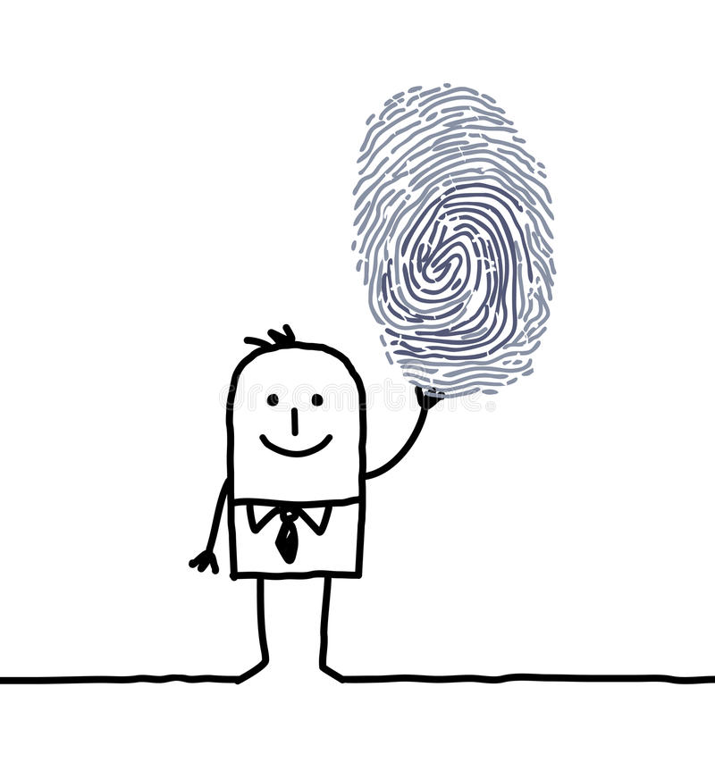 δακτυλικό αποτύπωμα επι&chi ελεύθερη απεικόνιση δικαιώματος