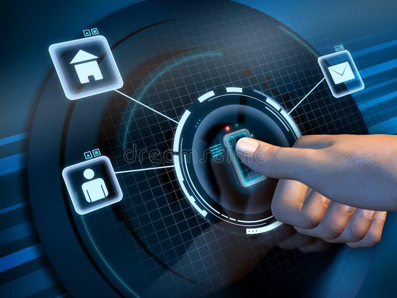 δακτυλικό αποτύπωμα πρόσβασης απεικόνιση αποθεμάτων