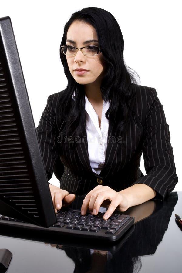 δακτυλογραφώντας γυναί στοκ εικόνα